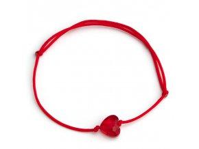 NRB0043 swarovski cerveny naramok