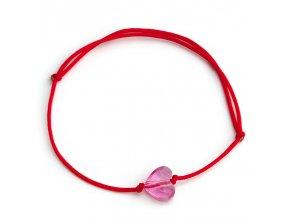 NRB0044 swarovski naramok snurkovy ružový