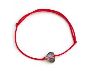 NRB0046 swarovski cerveny naramok srdiecko paradise shine