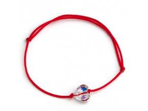 NRB0047 swarovski srdiecko cerveny naramok