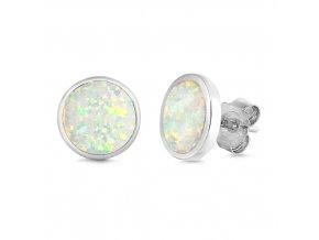 NA9833OSS opalove strieborne nausnice biele damske