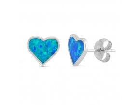 NA9835OSS strieborne nausnice opalove srdiecka modre