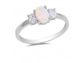 PR7173OSS Strieborný prsteň s opálom