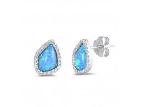 NA9838OZSS strieborne nausnice opal modry