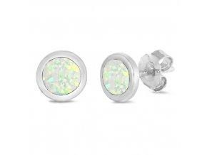NA9840OSS opalove nausnice kruzky biele