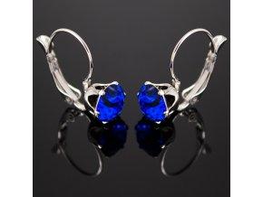 NA3901SWOC ocelove nausnice swarovski majestic blue modra kopie