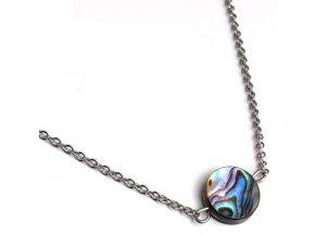 NH3328OC perlovy nahrdelnik ocelovy abalone