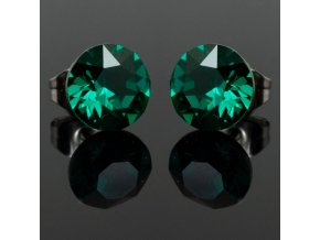 NA3918SWOC emerald swarovski ocelove nausnice