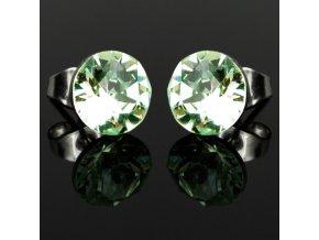 NA3916SWOC nausnice ocelove swarovski zelene chrysolite