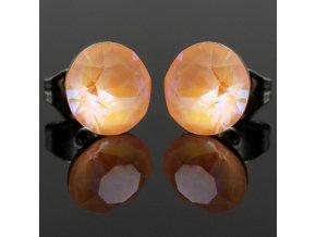 NA3919SWOC swarovski nausnice oranzove peach delight
