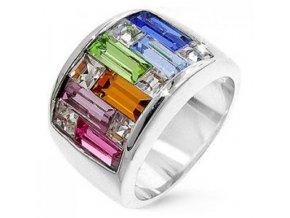 PR0001SWSSR swarovski prsten strieborny