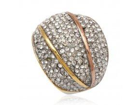 PR8164ZGOC Dámsky výrazný prsteň z chirurgickej ocele