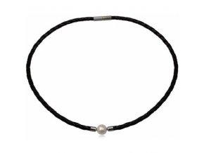 NH3346KPOC damsky kozeny nahrdelnik perla