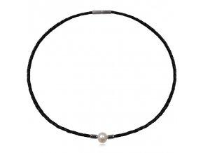 NH3345KPOC damsky kozeny nahrdelnik perla