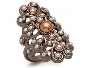 PR4414ZG prsten so syntetickymi perlami