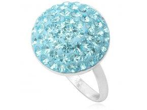 PR4434SWSS swarovski svetlomodry kruh prsten strieborny