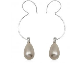 NA0255PSS strieborne nausnice perly