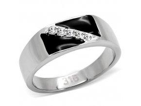 PR6011SWOC - Pánsky prsteň z chirurgickej ocele so Swarovski krištálmi