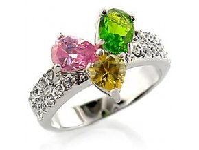 prsten swarovski farebny