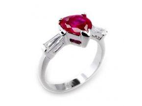 PR0359ZSS strieborny prsten so zirkonmi