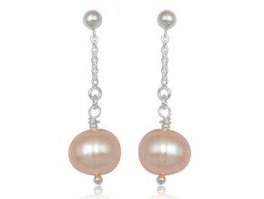 NA0360PSS strieborne nausnice s perlami