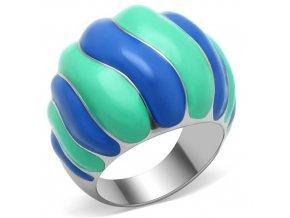 PR6091OC Farebný oceľový prsteň