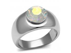 PR6159SWOC - Oceľový prsteň so Swarovski krištálom