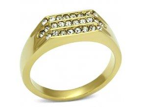 PR6160SWGOC - Pánsky prsteň so Swarovski krištálmi