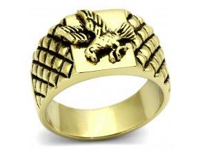 PR6161GOC - Pánsky oceľový prsteň