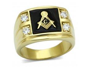 PR6163ZGOC - Pánsky prsteň so zirkónmi
