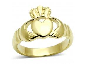 PR6175GOC - Srdiečko s korunkou - oceľový prsteň