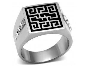 PR6183SWOC - Pánsky prsteň so Swarovski krištálmi