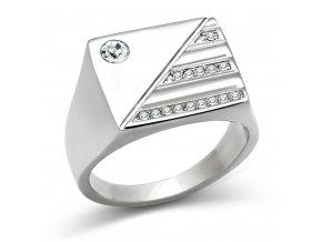 PR6188SWOC - Pánsky prsteň so Swarovski krištálmi