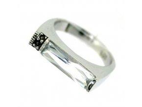 PR4606ZSS - Strieborný prsteň so zirkónom