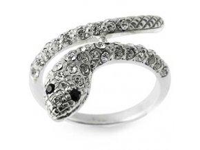 PR4616ZSS - Had - strieborný prsteň so zirkónmi