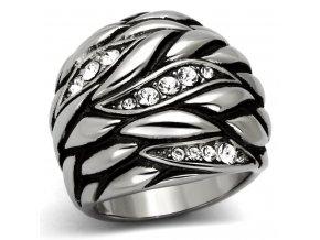 PR6220ZOC Prsteň z chirurgickej ocele so zirkónmi