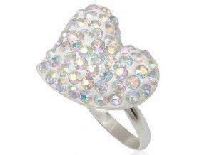 PR4633SWSS - Srdiečko - strieborný prsteň so Swarovski krištálmi