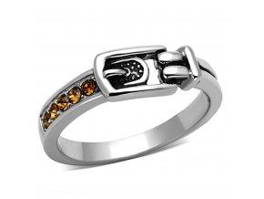 PR6238SWOC opasok prsten z chirurgickej ocele swarovski