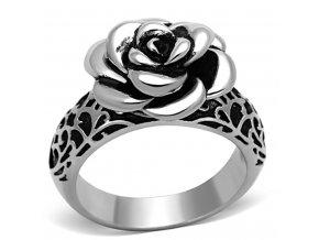 PR6240OC Prsteň z chirurgickej ocele s ružou