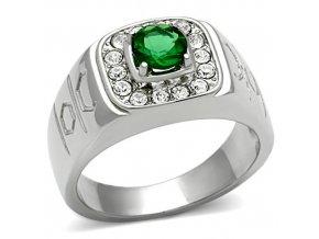 PR6295ZOC - Pánsky prsteň z chirurgickej ocele so zirkónmi