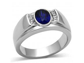 PR6301ZOC - Pánsky prsteň z chirurgickej ocele so zirkónmi