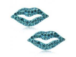 NA9084ZSS modre pery strieborne nausnice