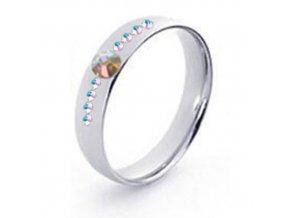 PR6364SWOC swarovski prsten ocelovy