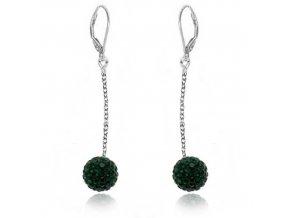 NA0563SWOC gulocky swarovski emerald nausnice ocelove