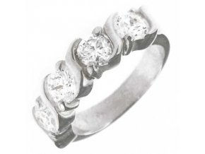 PR4650ZSS - Strieborný prsteň so zirkónmi
