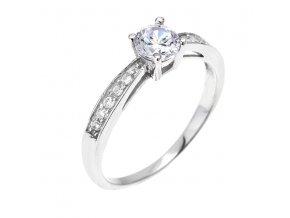 PR4651ZSS Strieborný prsteň so zirkónmi