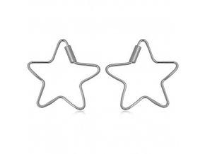 NA0595SS strieborne nausnice hviezdicky