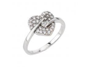 PR7014ZSS Srdiečko - strieborný prsteň so zirkónmi