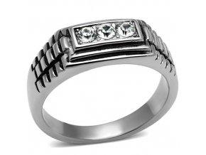 PR6462ZOC - Pánsky prsteň z chirurgickej ocele so zirkónmi