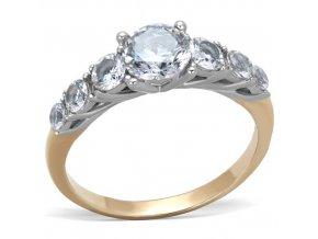 PR6477ZGOC Jemný prsteň z chirurgickej ocele s zirkónmi
